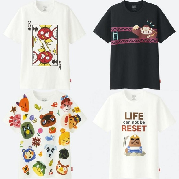 camisetas personagens Nintendo