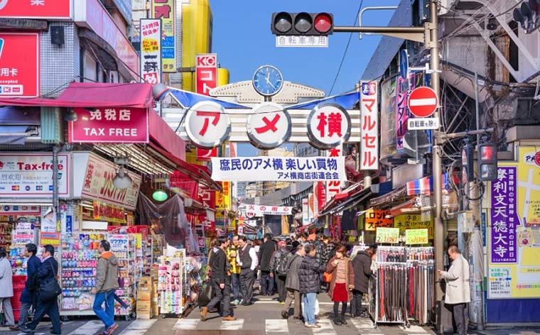 lojistas do Japão