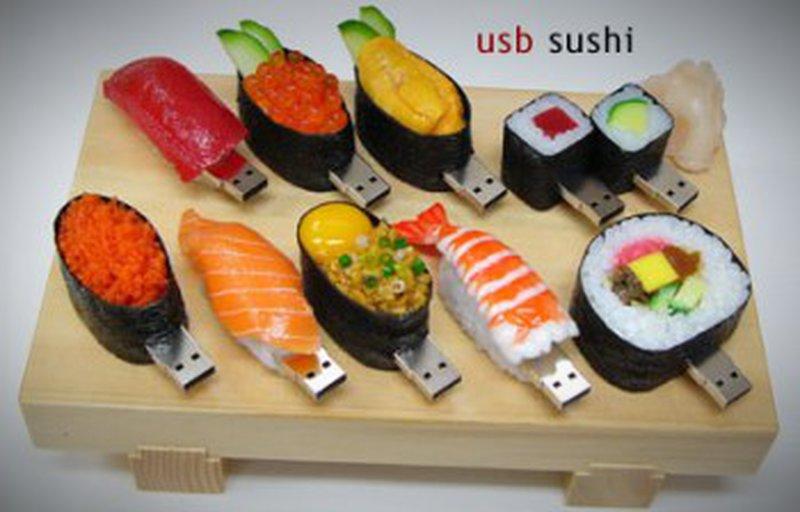 pendrive em formato sushi