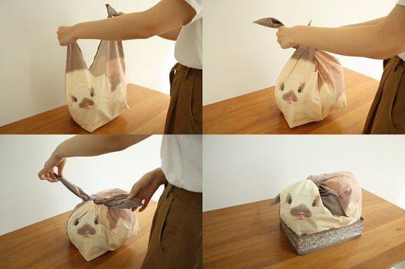 cesto em formato de coelho
