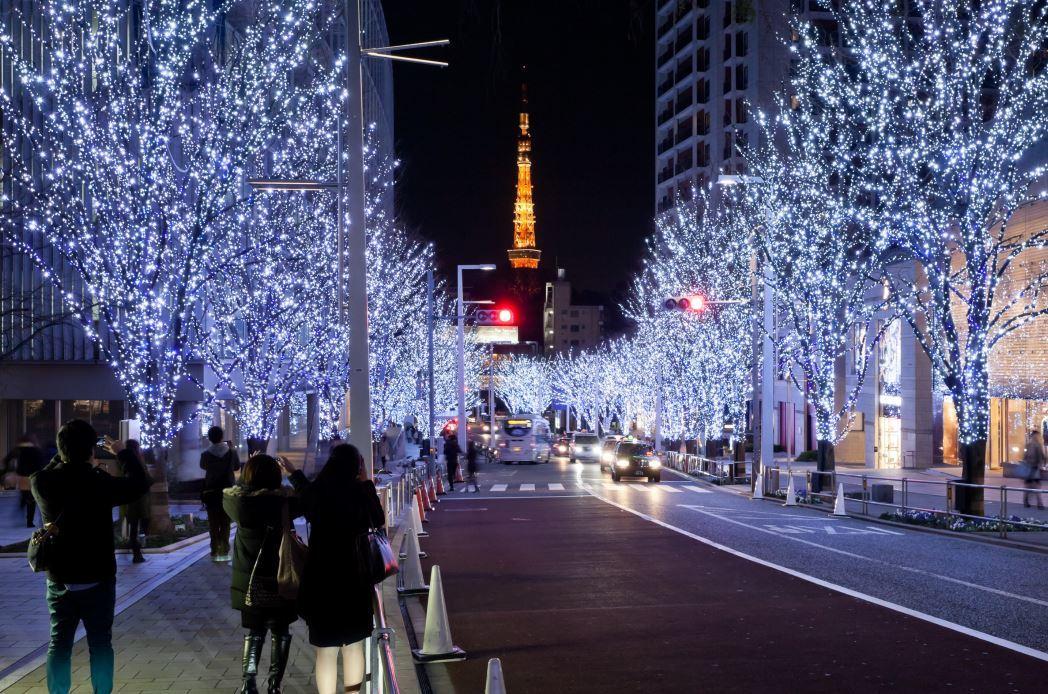 Luzes de natal no Japão