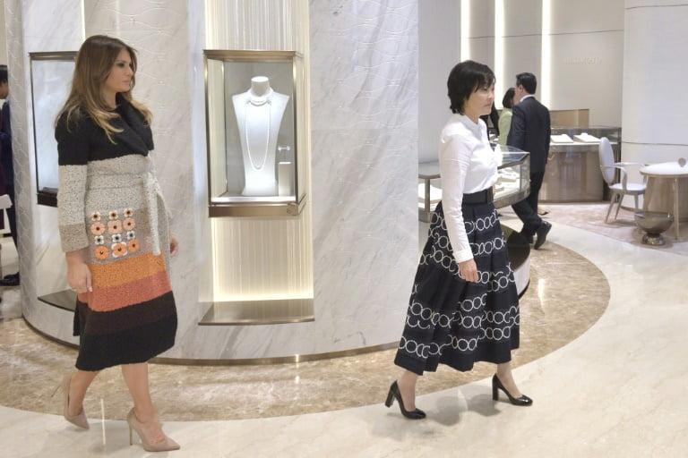 Melania Trump e Akio Abe