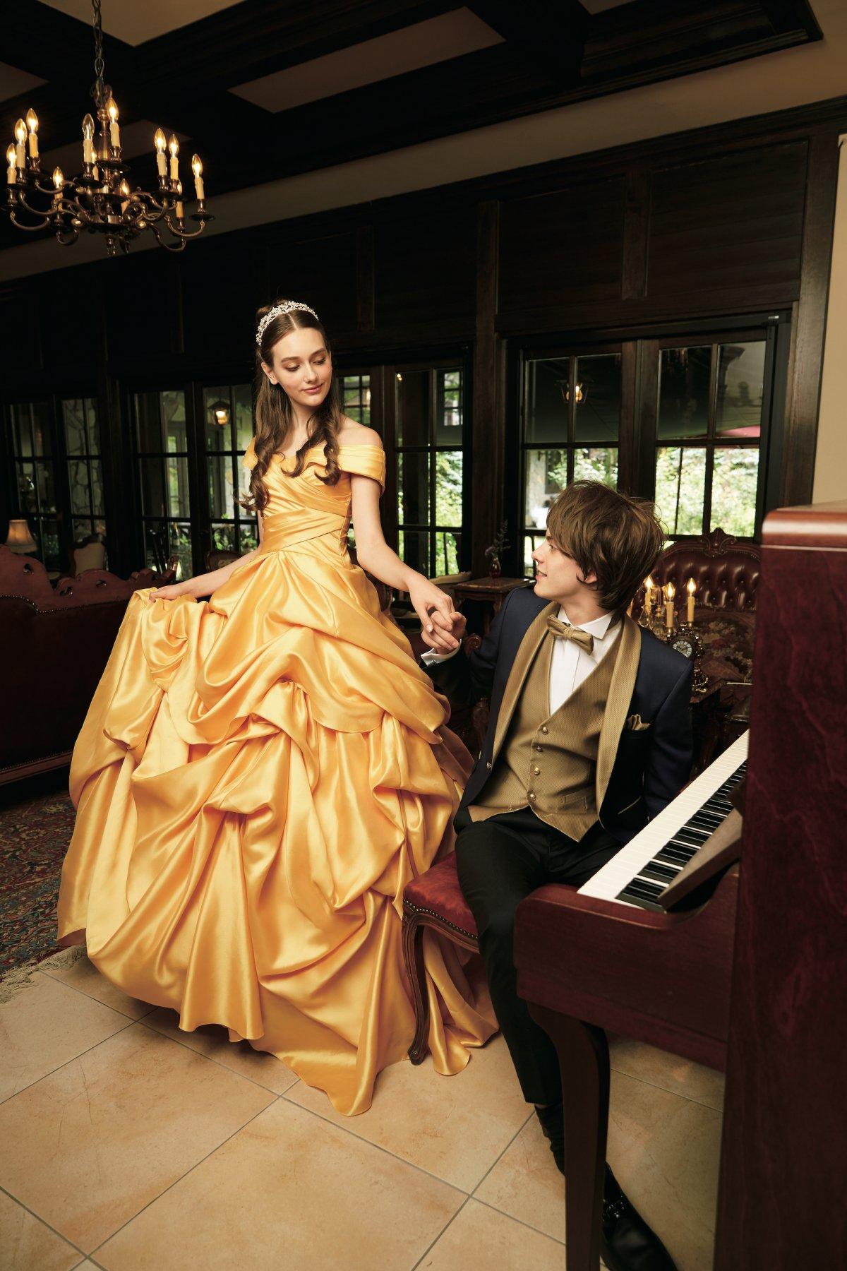 vestido de noiva A bela e a fera Japão