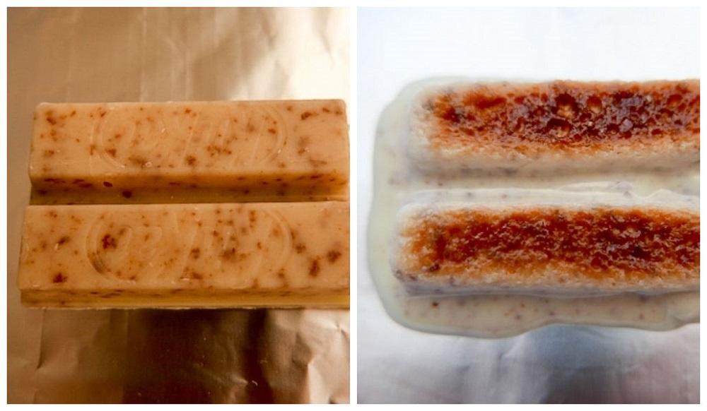 Kit Kat para assar sorvete