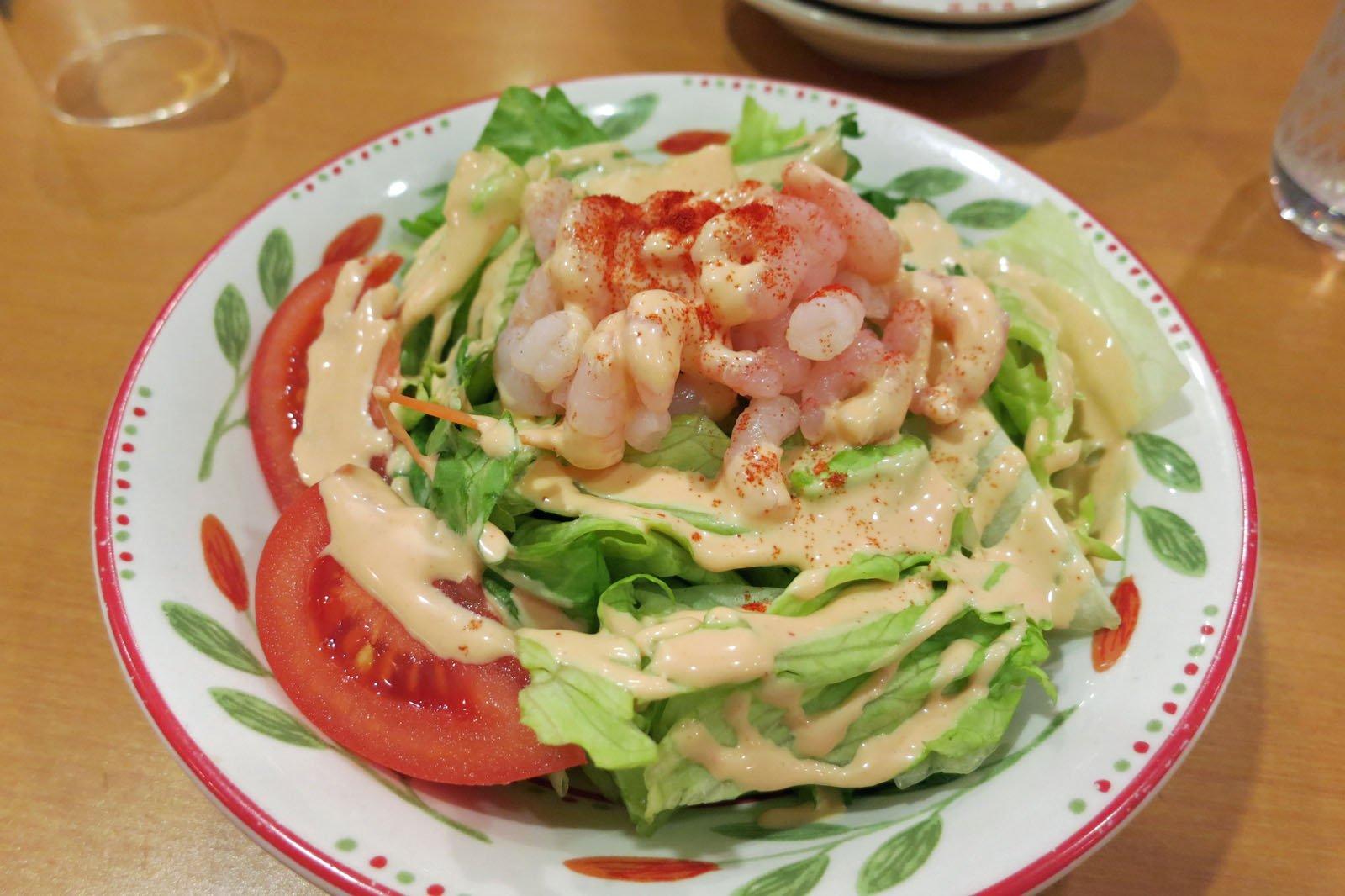 salada de macarrão Saizeriya