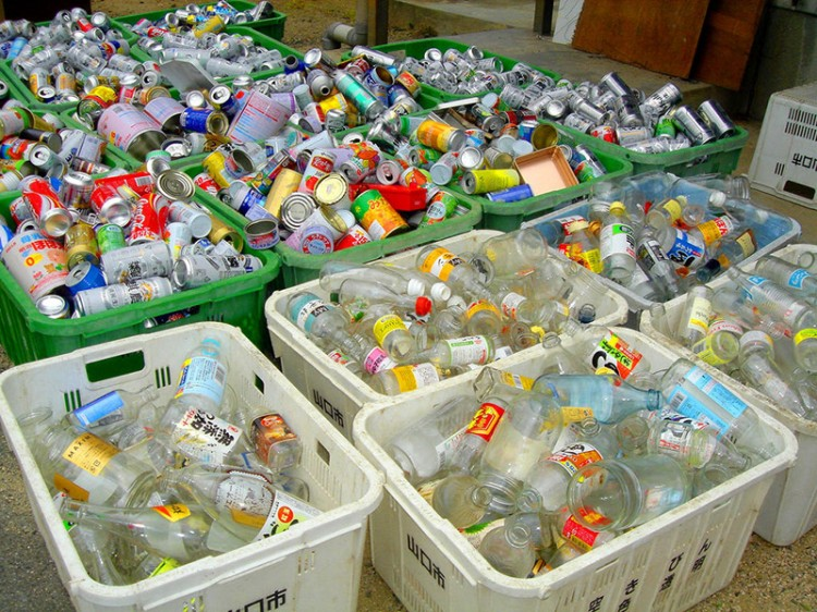 lixo no Japão