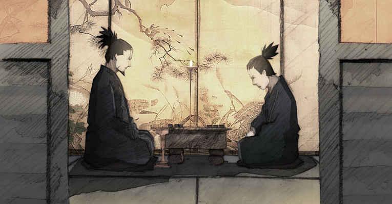Cena do anime Naruto - shogi