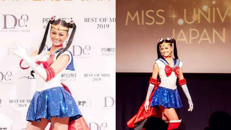 Yuumi Kato vestida de Sailor Moon
