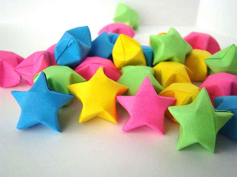origami estrela da sorte