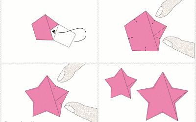 como fazer origami estrela