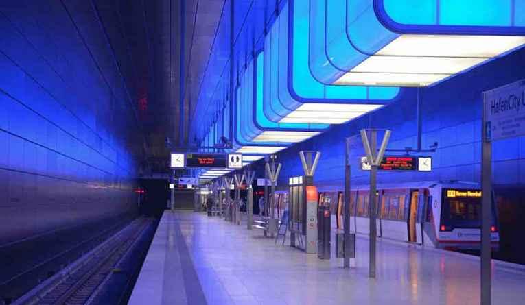 Iluminação metrô Japão