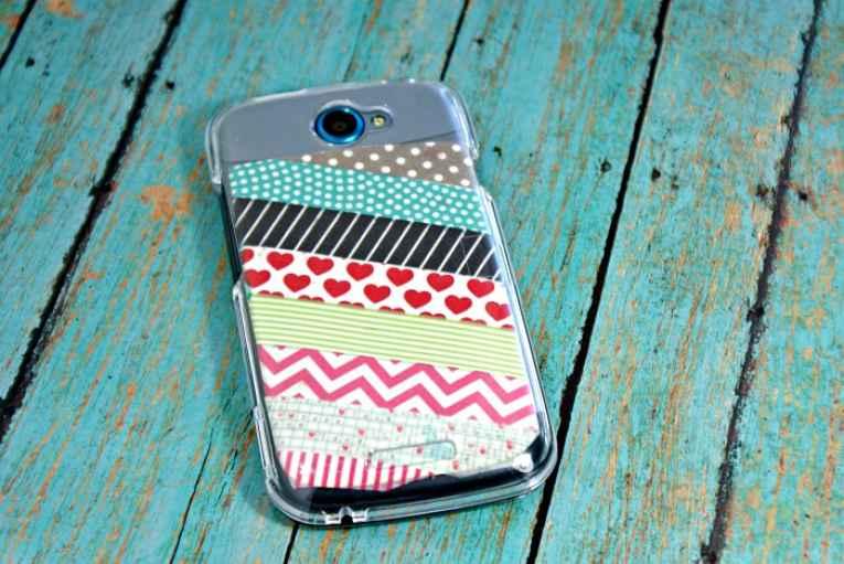 Washi tape no case de celular