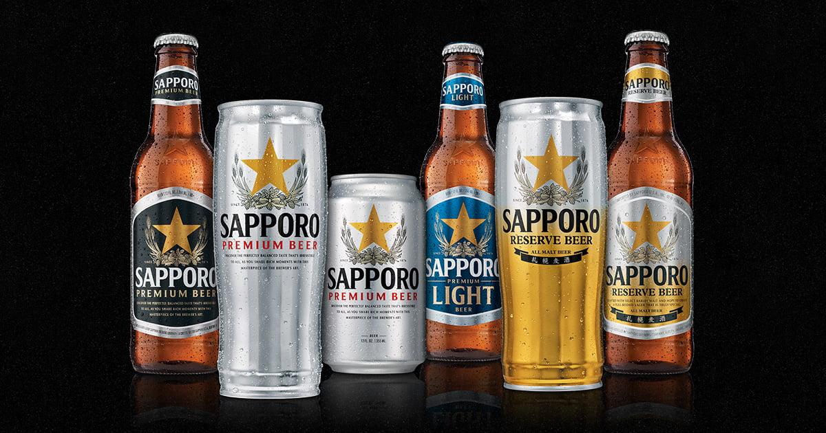 Tipos de cerveja Sapporo