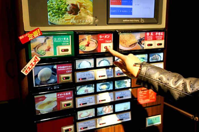 Máquina de pedidos do Ichiran Ramen
