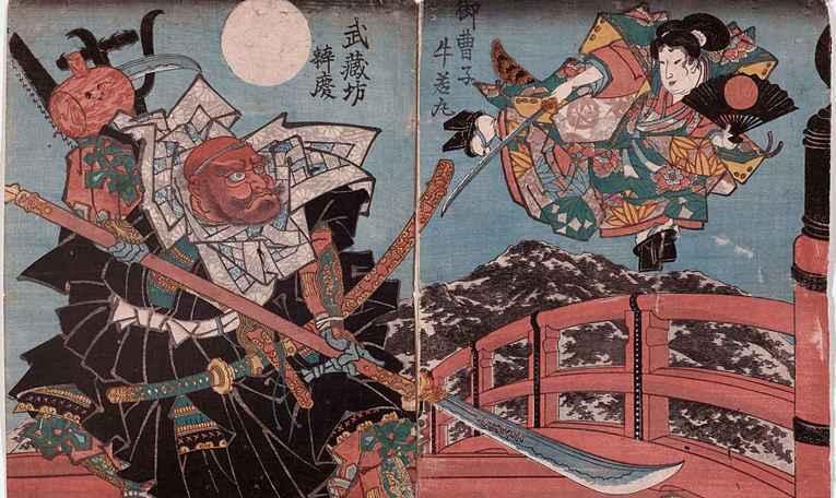 Ilustração japonesa do monge Benkei