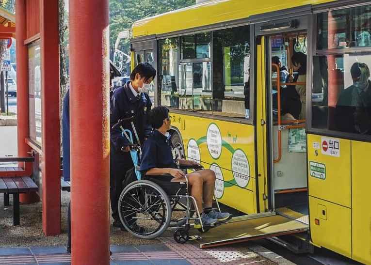 ônibus com rampa