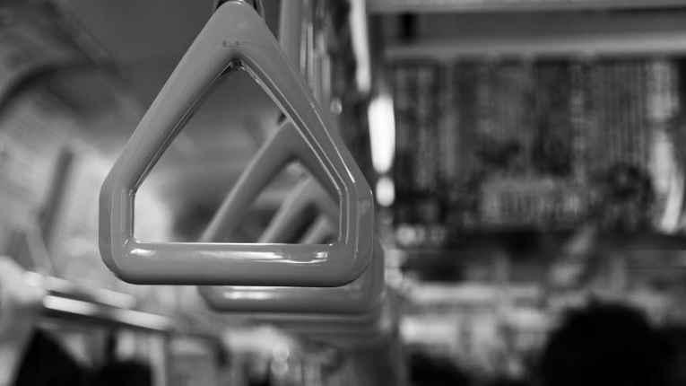 Alça de vagão do metrô