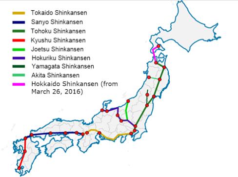 Linhas Shinkansen