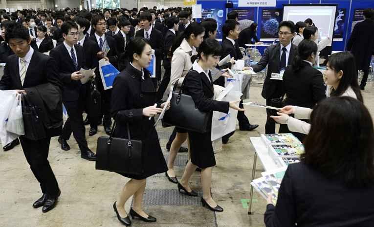 Recrutamento no Japão