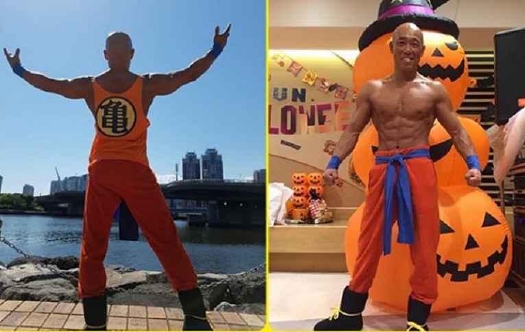 Shirapyon de cosplay de Goku