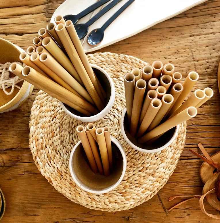 Canudo de bambu