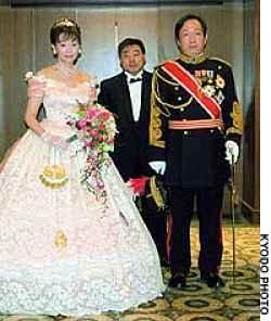 Foto dos noivos no casamento