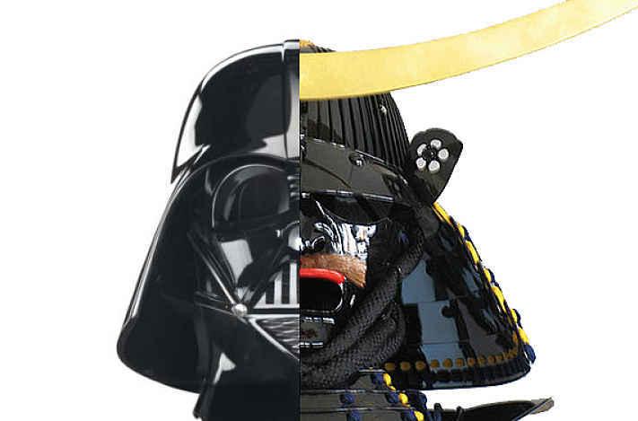 Capacete Darth Vader e Date Masamune
