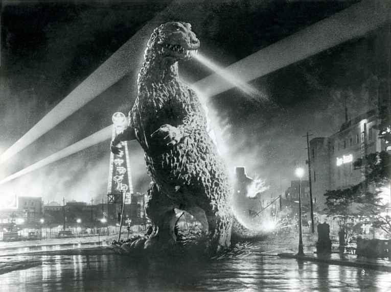 Cena do filme Gojira 1954