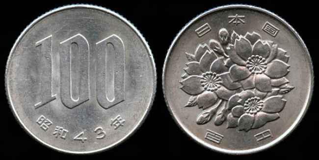 moeda de 100 ienes