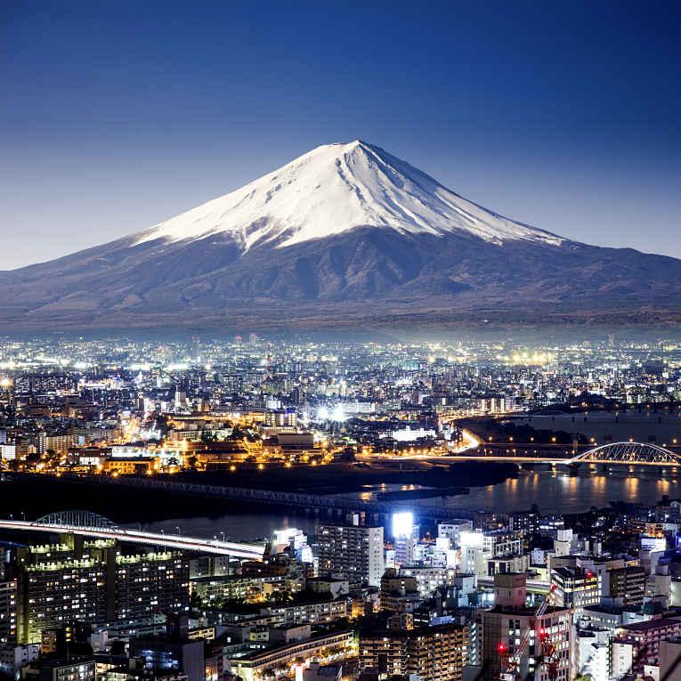 Monte Fuji vista aérea