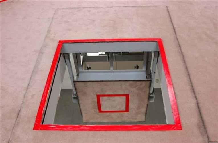 Chão da sala de execução