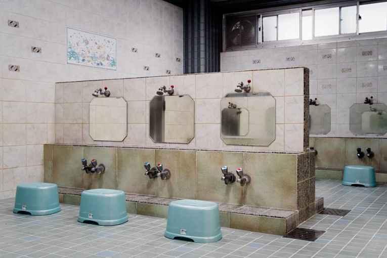 área para lavar o corpo