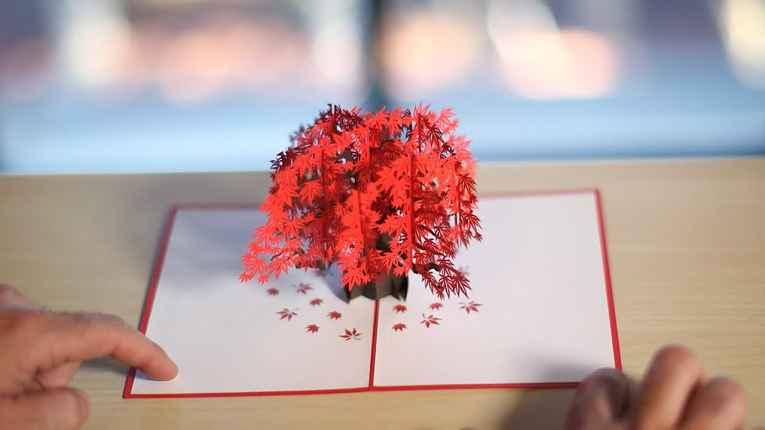 cartão kirigami 3D