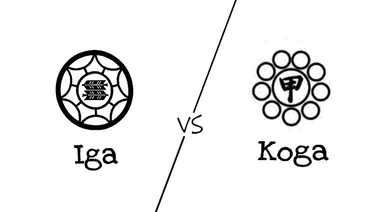 Símbolos dos clãs Iga e Koga