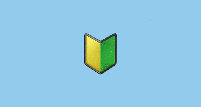 símbolo iniciante do Japão