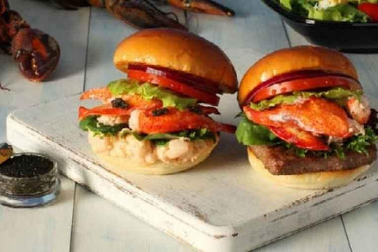 Hambúrguer de caviar e lagosta