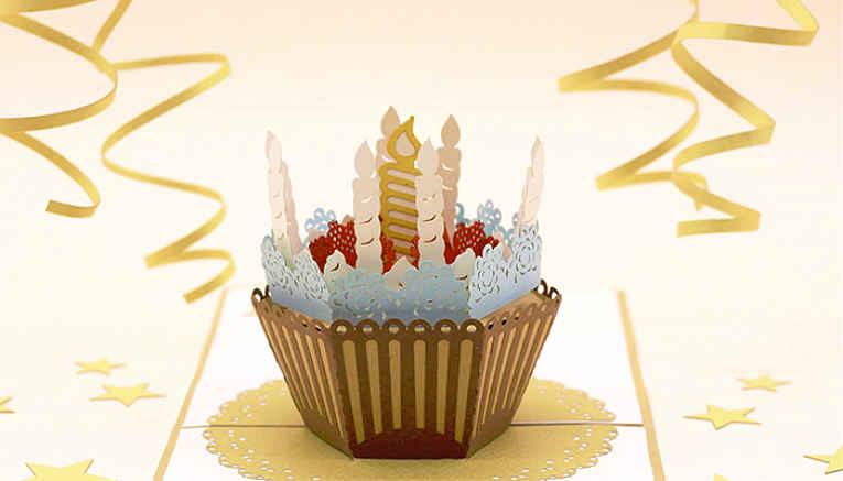 Kirigami de cupcake