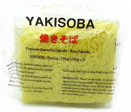 massa de yakisoba fresco