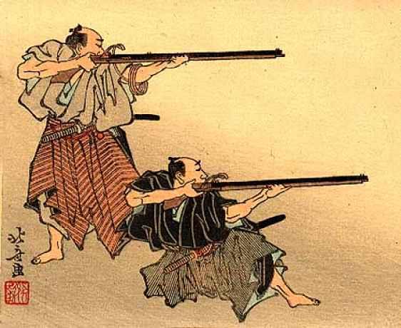 Samurais portando hinawaju