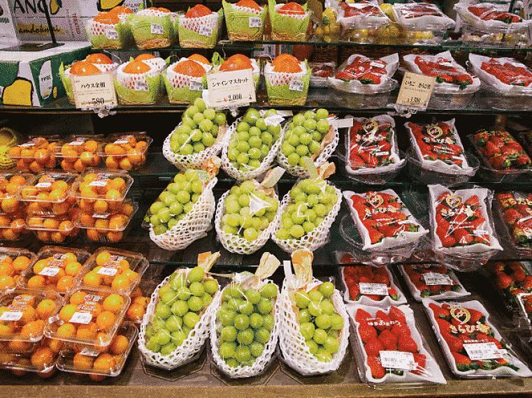 Vitrine de frutas
