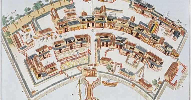 Mapa da ilha Dejima