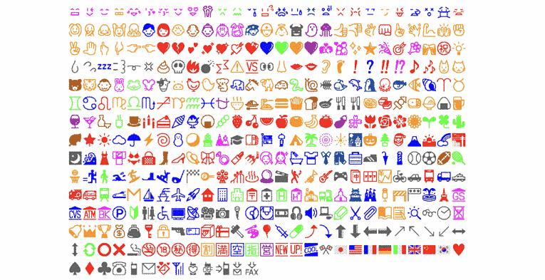 Lista de emojis Shigetaka