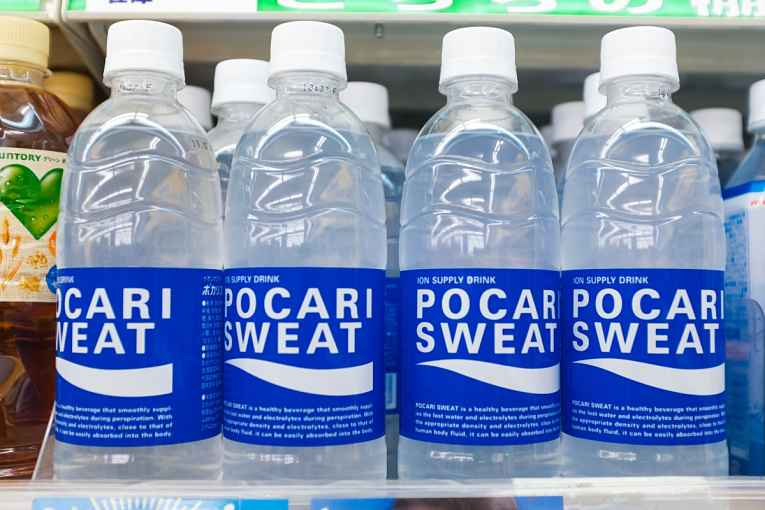 Garrafas de Pocari Sweat