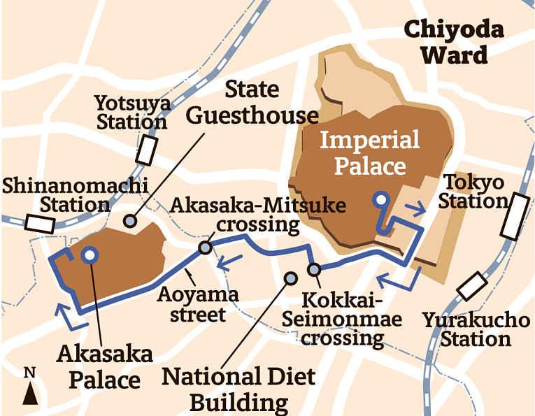 Mapa com a rota