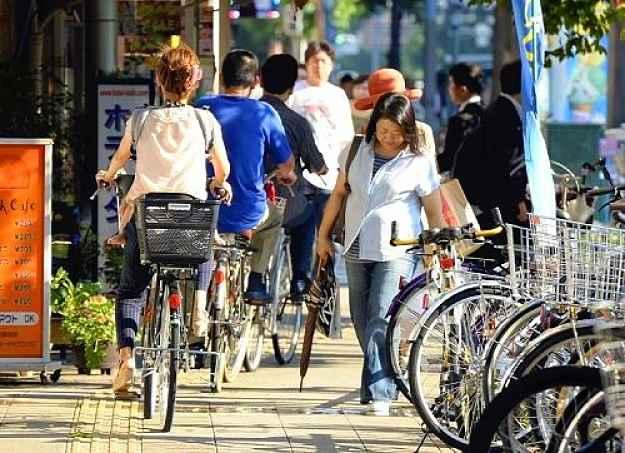 Bicicleta na calçada