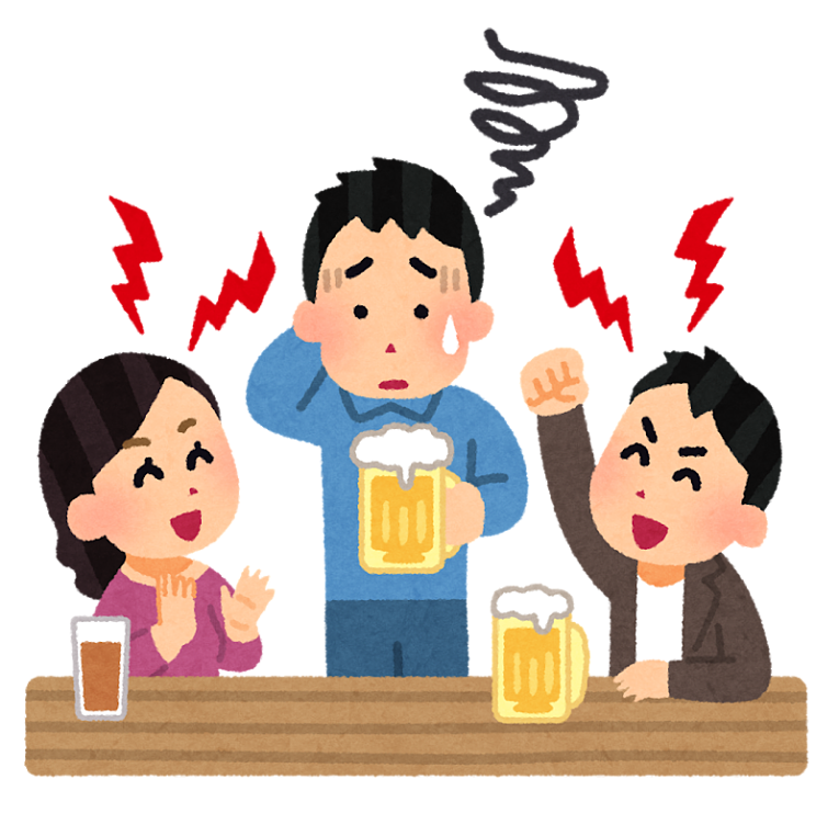 pessoa constranginda em beber