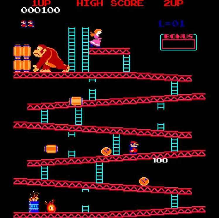 Tela do jogo Donkey Kong original
