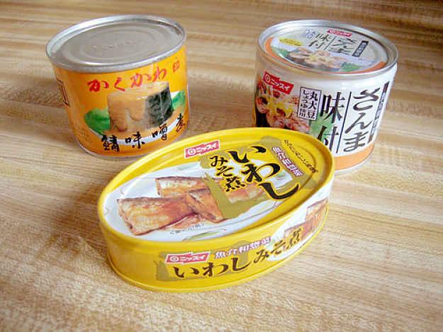 Três enlatados do Japão