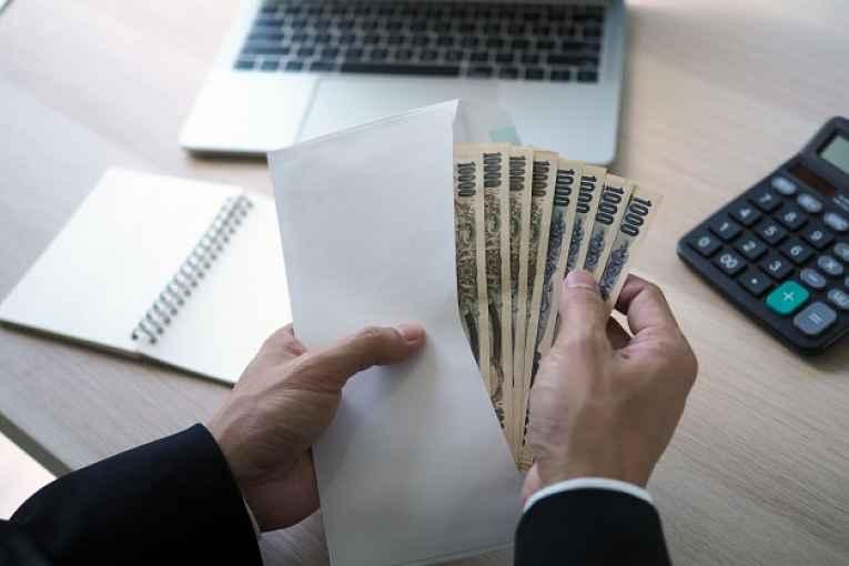 Envelope com dinheiro