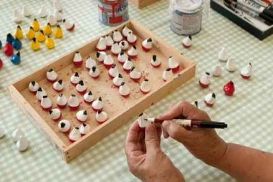 Pintando os bonecos